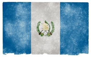 Guatemala grunge flag decorazione
