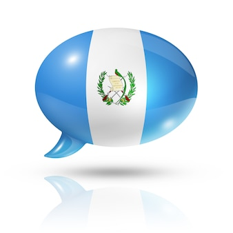 Guatemalan flag speech bubble
