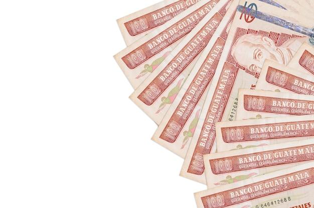 Guatemalan quetzales bills lies isolated