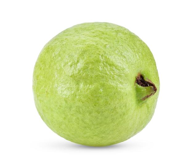 白い背景で隔離のグアバの果実