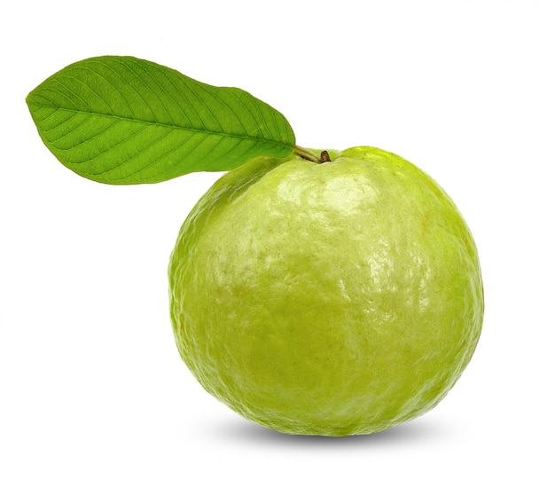 Guava isolated on white with clipping path