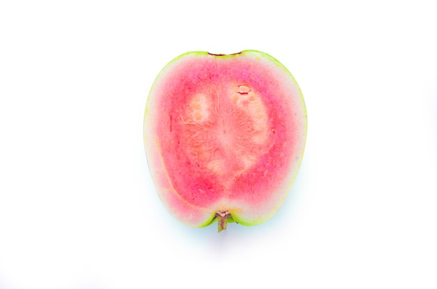 Guava isolated on white