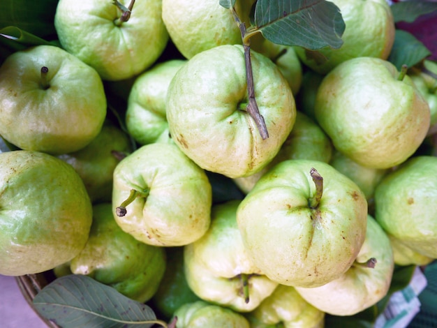 Guava in the street market from thailand