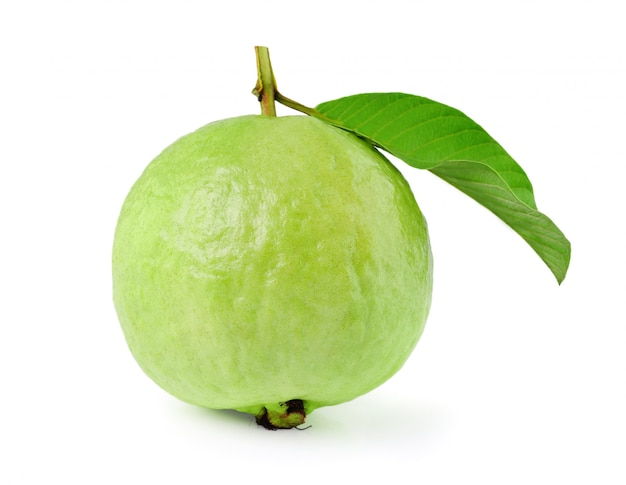 Guava on white space