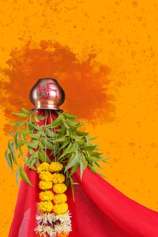 Gudhi padva traditional festival new year for marathi hindus.