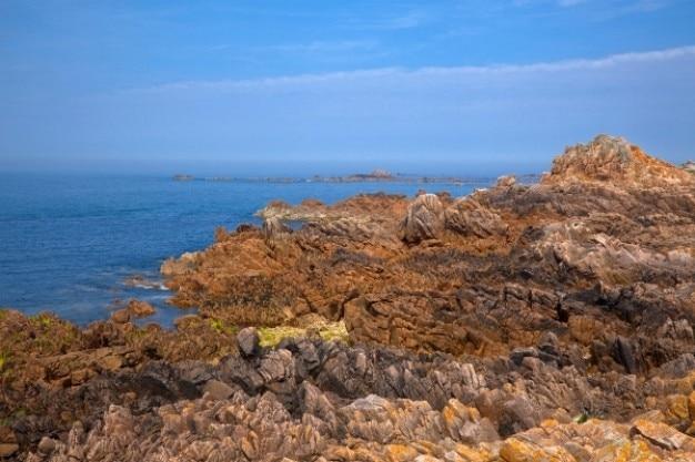 ガーンジー島の崖hdr