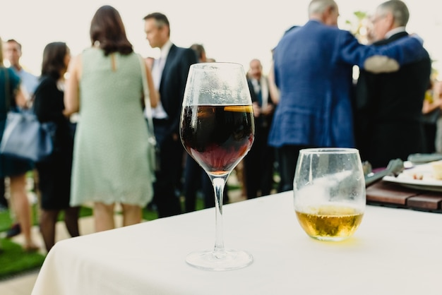 Guest drinks for a cocktail at a business event