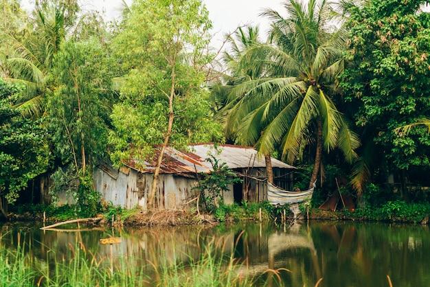 Guesthouse along mekong river