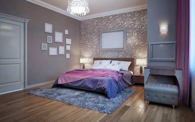Guests bedroom in private house