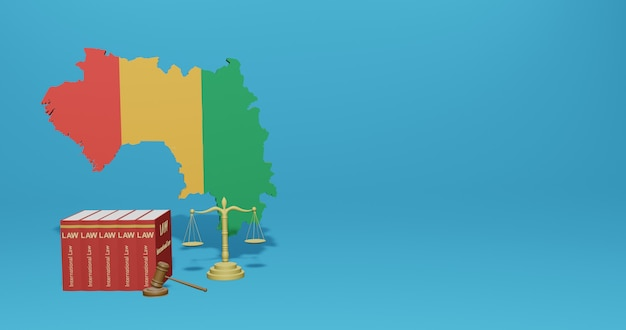 Guinea bissau law for infographics, social media content in 3d rendering