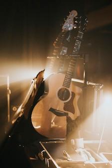 Гитара за кулисами на концерте