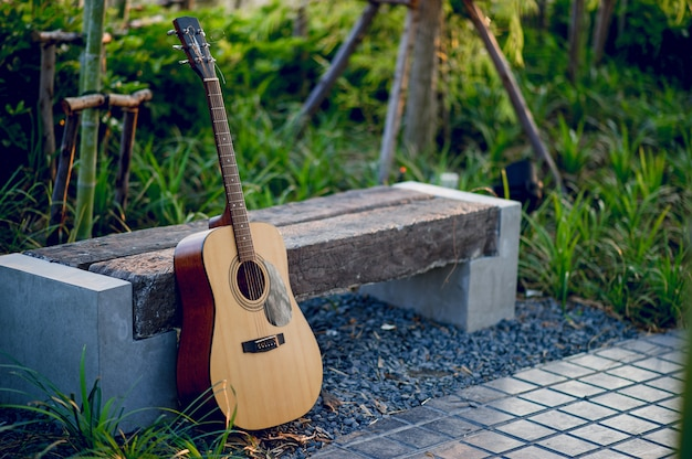 Guitar instrument of professional guitarists musical instrument concept for entertainment