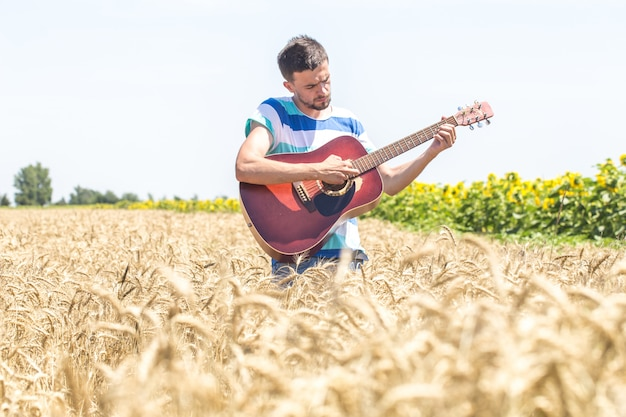 Guitar on the nature