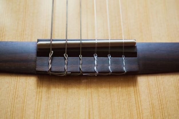 Гитарные струны крупным планом