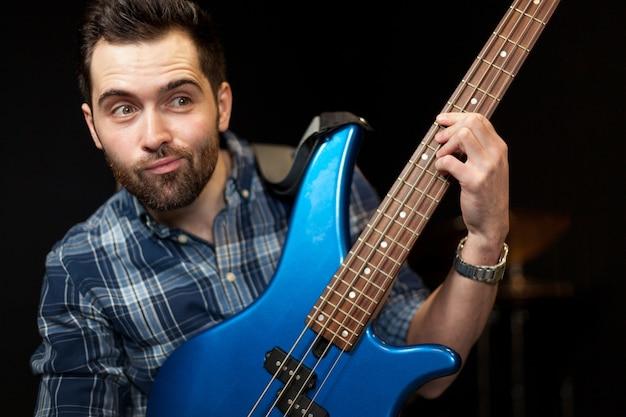 Guitarist having fun