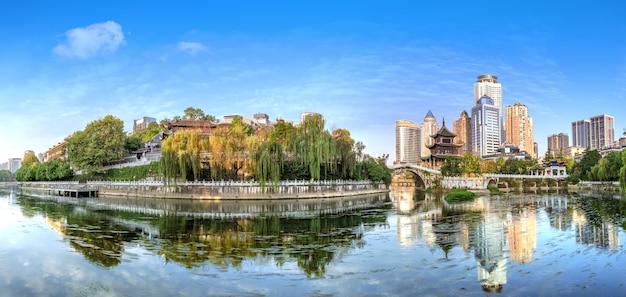 Guiyangの有名な古代の建築景観。