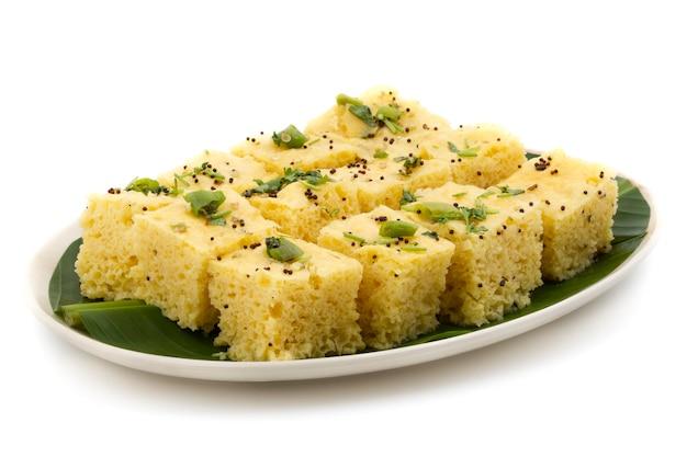 Gujrati food khaman dhokla
