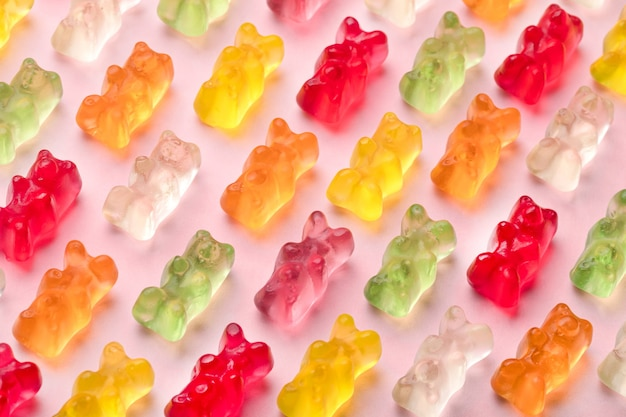 Gummy bears seamless pattern