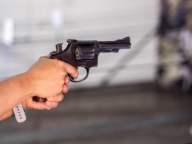 Gunshot in hand