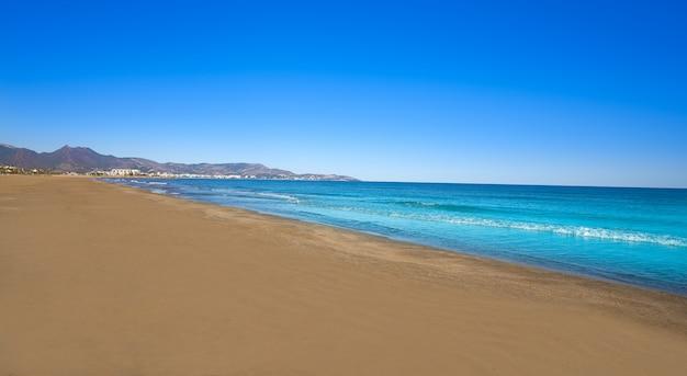 Gurugu beach in grao de castellon spain