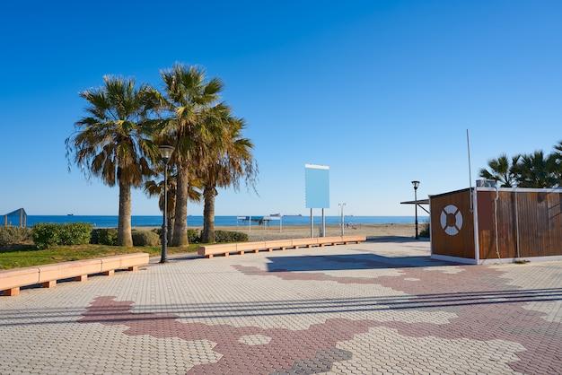 Grao de castellon 스페인의 gurugu 해변