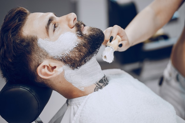 Guy in the barbershop