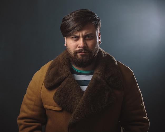 Guy in fur coat