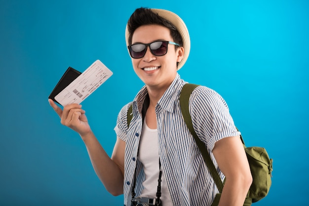 Guy with air ticket