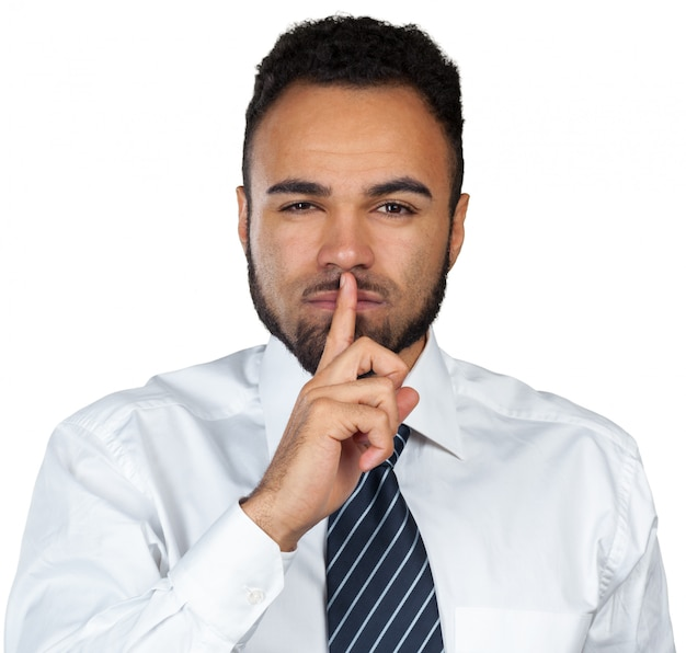 Guy with finger on lips