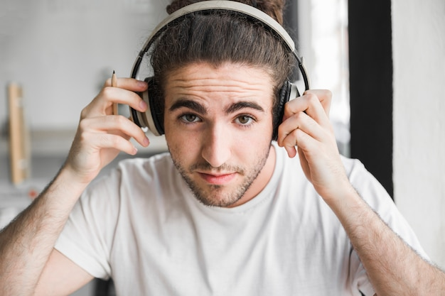 Guy with headphones