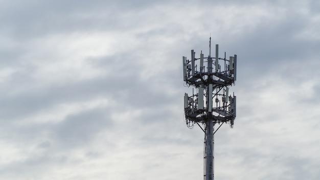 セルフサポート、guyed tower、guyed mast、pole。テレコミュニケーションタワー。
