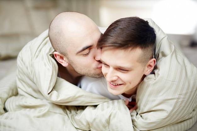 Guys in blanket