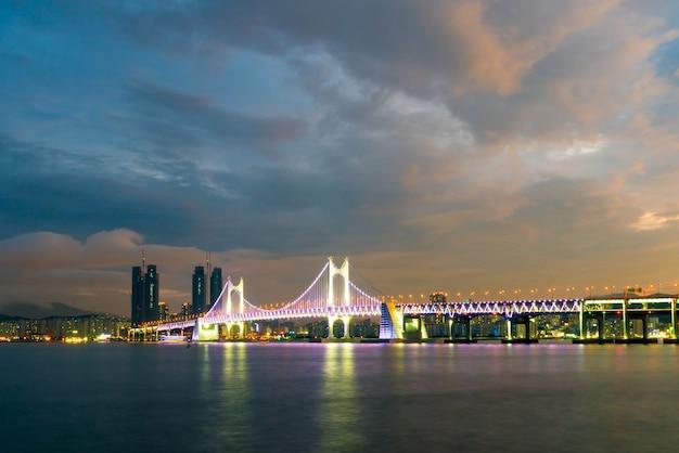 Gwangan bridge in busan city , south korea.