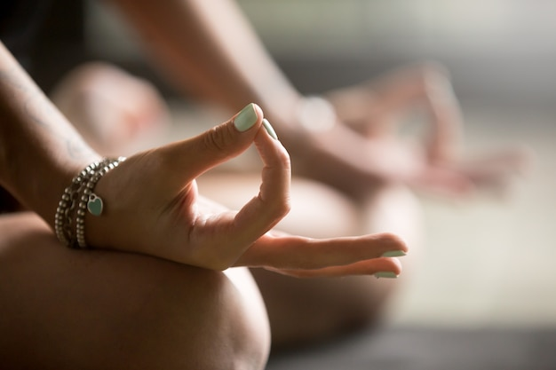 Gyan mudra close up
