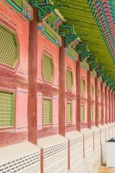 景福宮韓国の美しい伝統建築 - 色彩処理を強化する