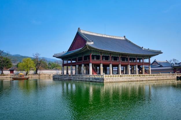 서울 경복궁의 경회루 파빌리온 로얄 연회장