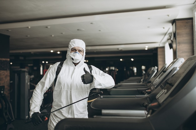Gym cleaning and disinfection