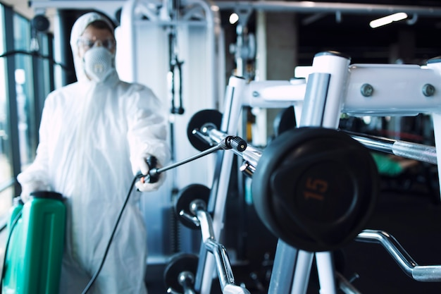 Gym disinfection and healthcare