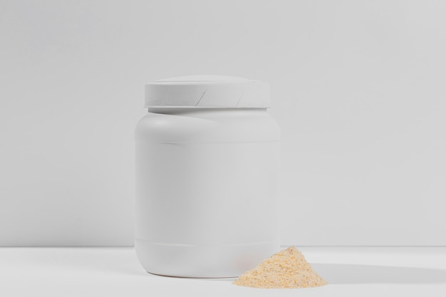Gym powder supplements jar