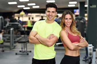 Gym slim background woman sport