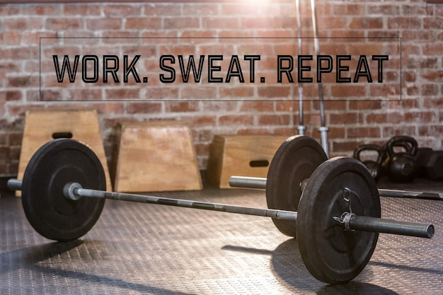 Gym with motivational phrase
