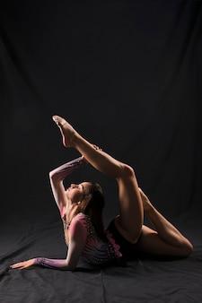 Gymnast posing
