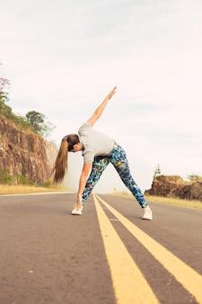 体操と屋外ストレッチ体操