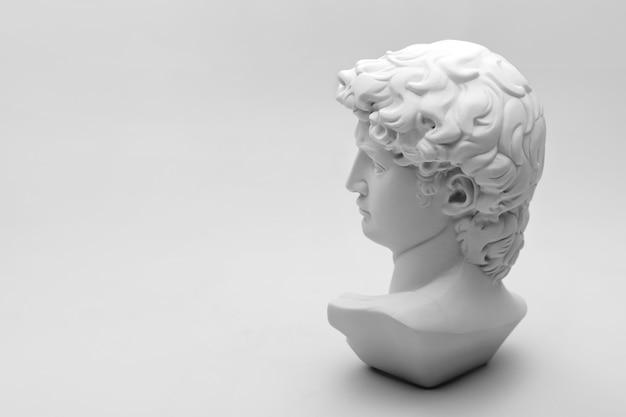 Gypsum statue of david's head