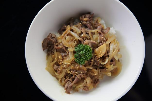 Gyudon beef bowl japanese food