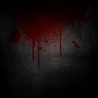 Grunge background con schizzi di sangue e gocciola