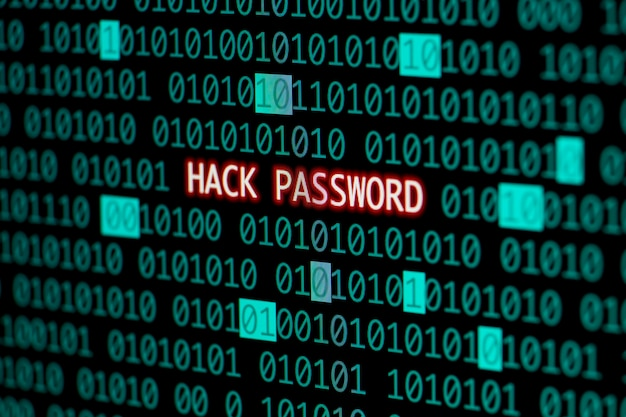 Hack password with binary code