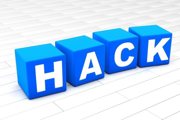 Hack word illustration