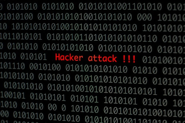Hacker attack with binary code