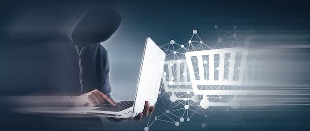 Hacker attacks an online store.